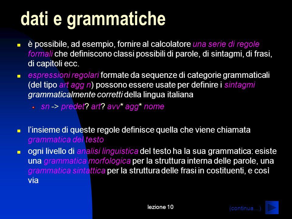 dati e grammatiche