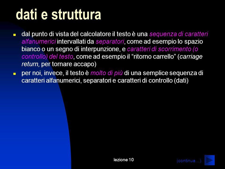dati e struttura