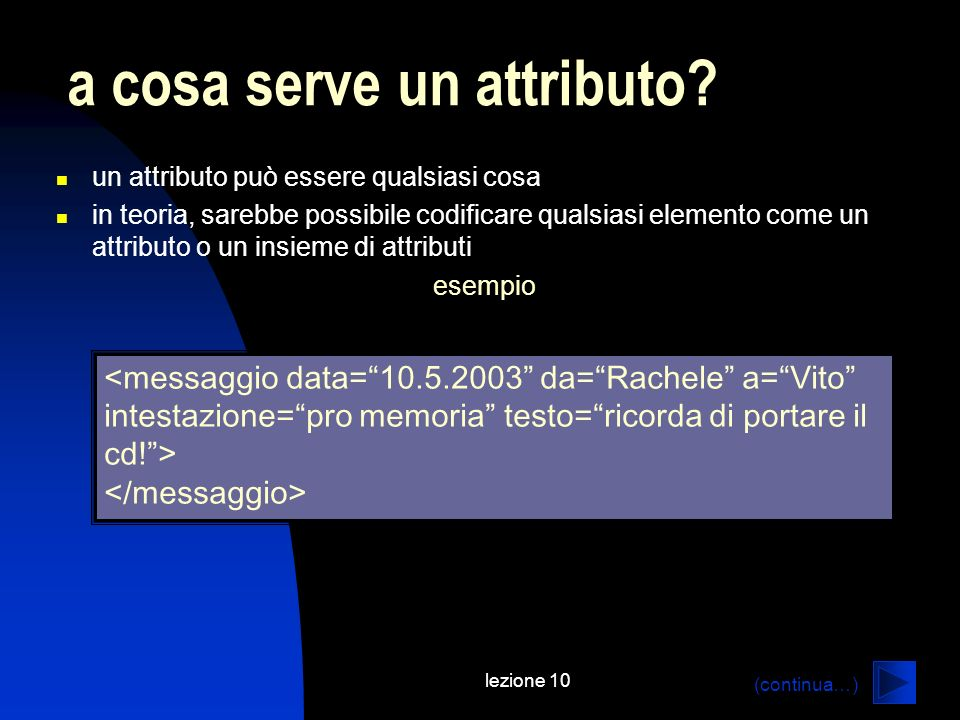 a cosa serve un attributo
