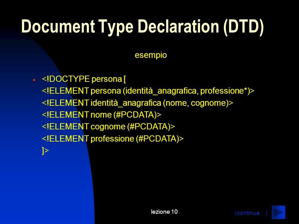 Document Type Declaration (DTD)