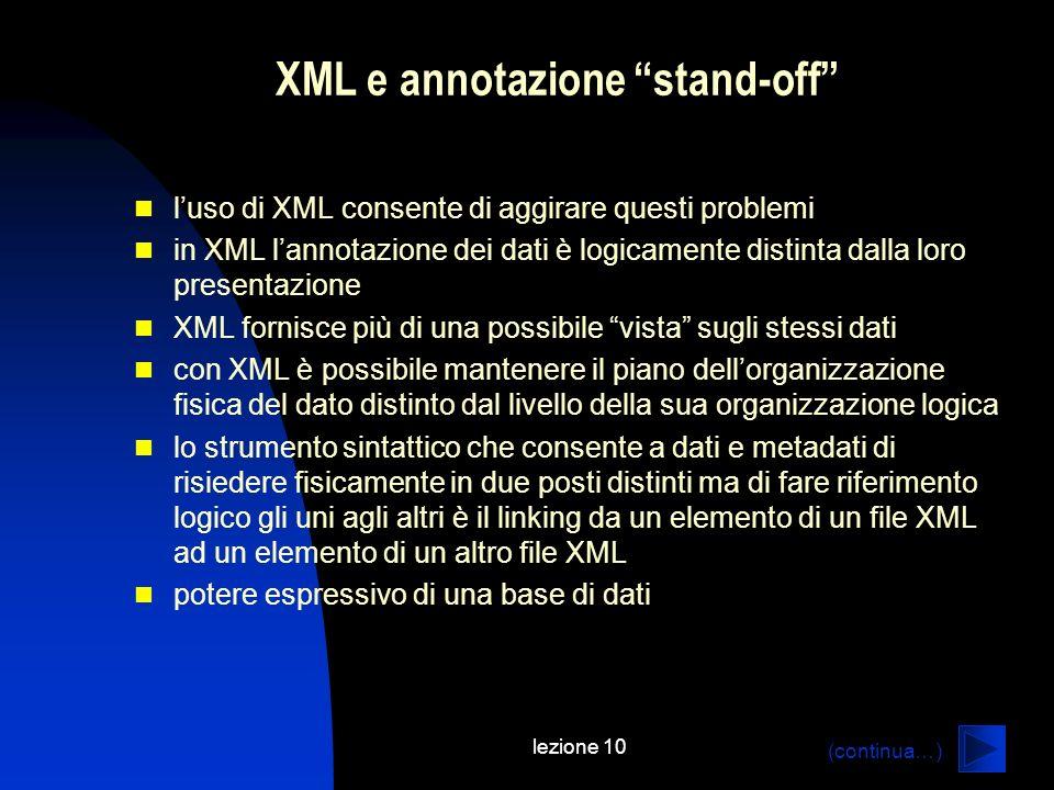 XML e annotazione stand-off