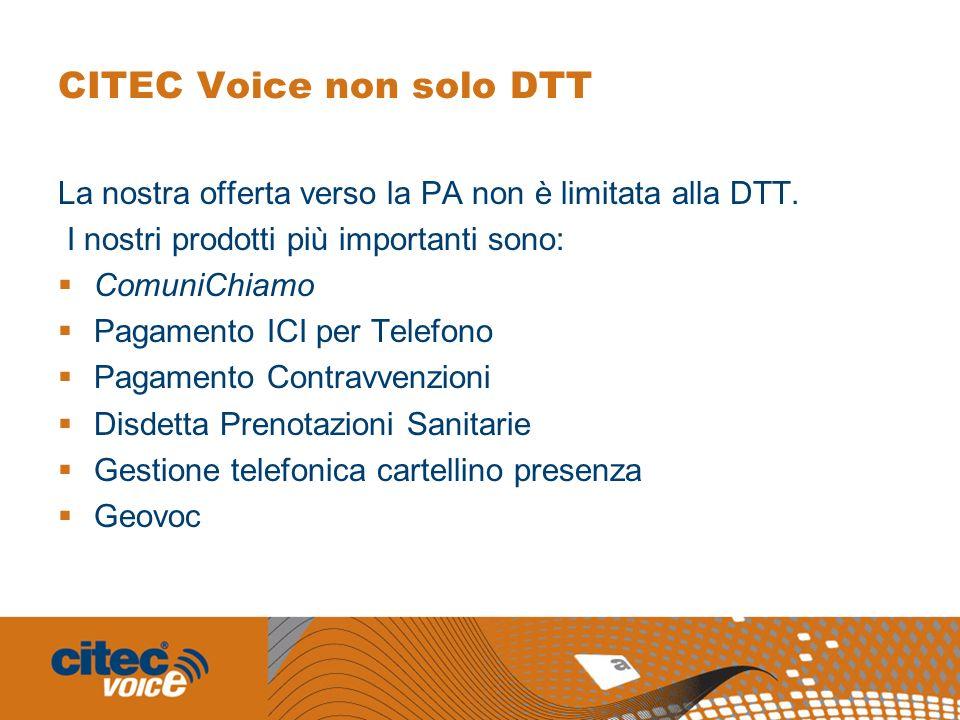 CITEC Voice non solo DTT