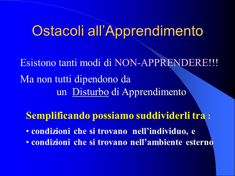 Ostacoli all'Apprendimento
