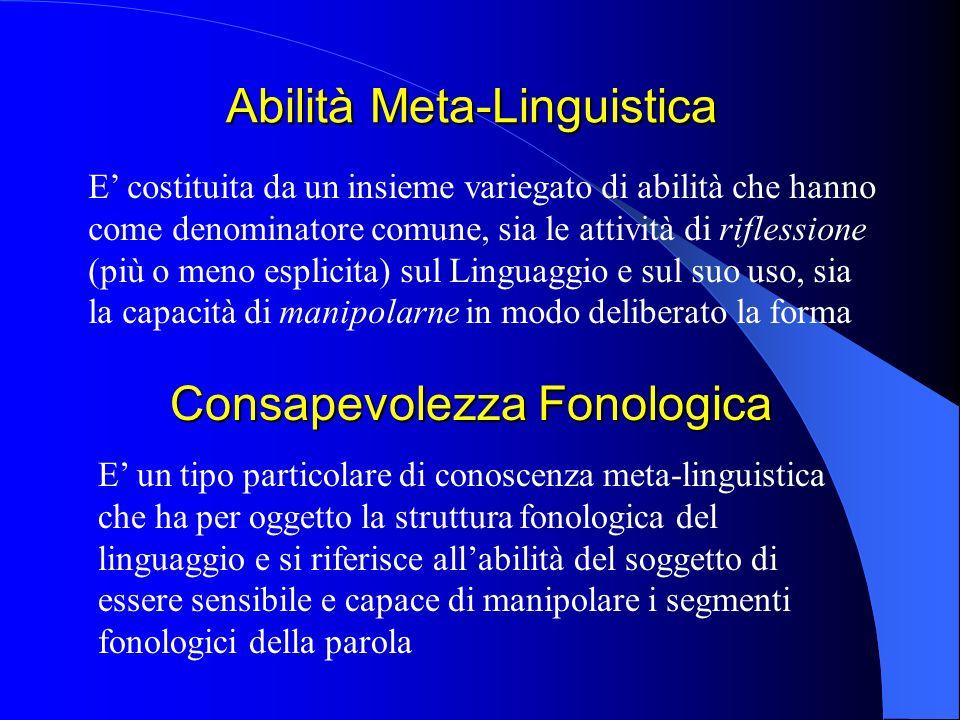 Abilità Meta-Linguistica