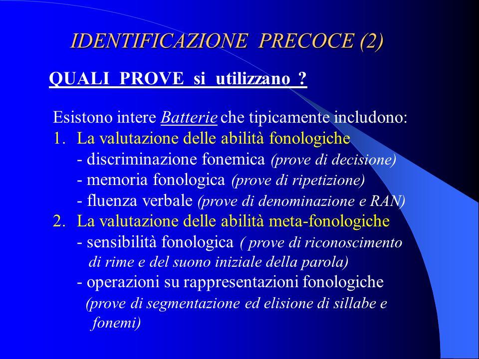 IDENTIFICAZIONE PRECOCE (2)