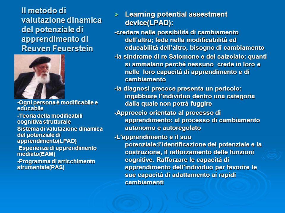 Il metodo di valutazione dinamica del potenziale di apprendimento di Reuven Feuerstein