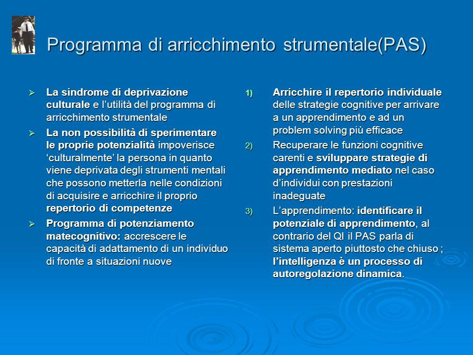 Programma di arricchimento strumentale(PAS)