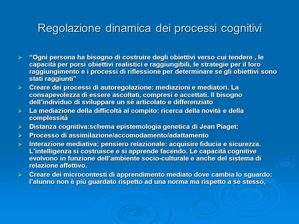 Regolazione dinamica dei processi cognitivi