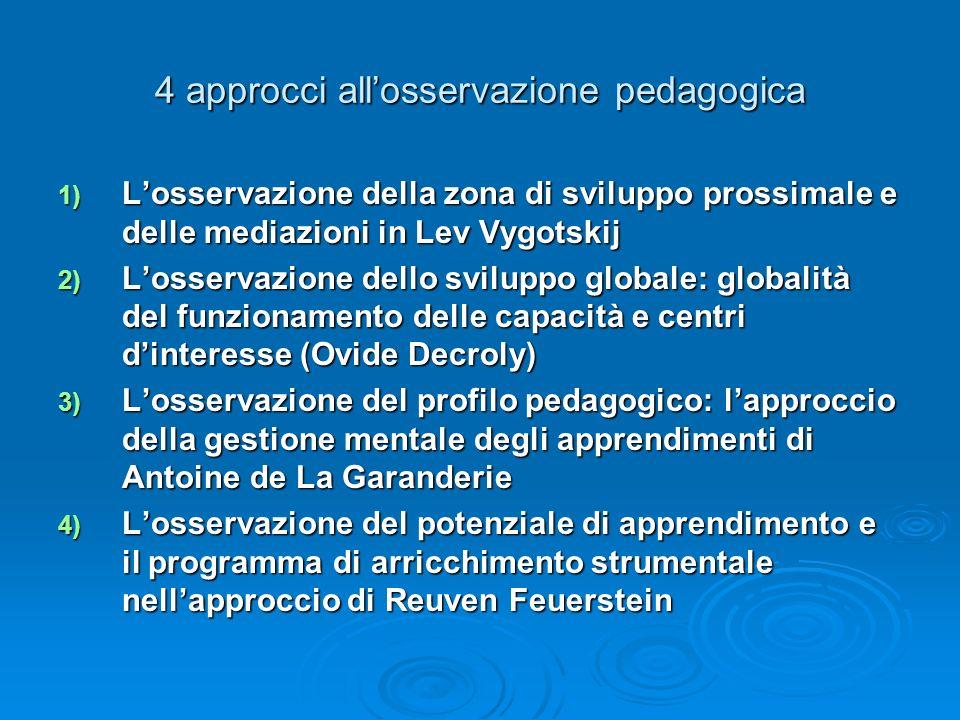 4 approcci all'osservazione pedagogica