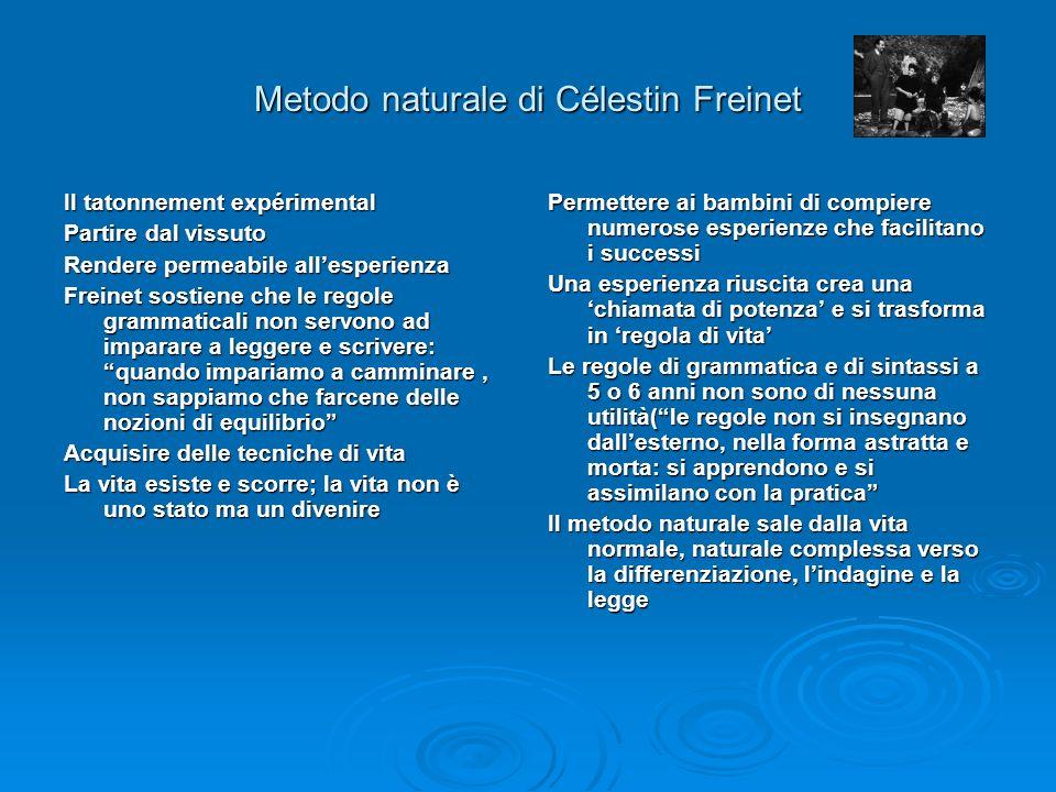 Metodo naturale di Célestin Freinet