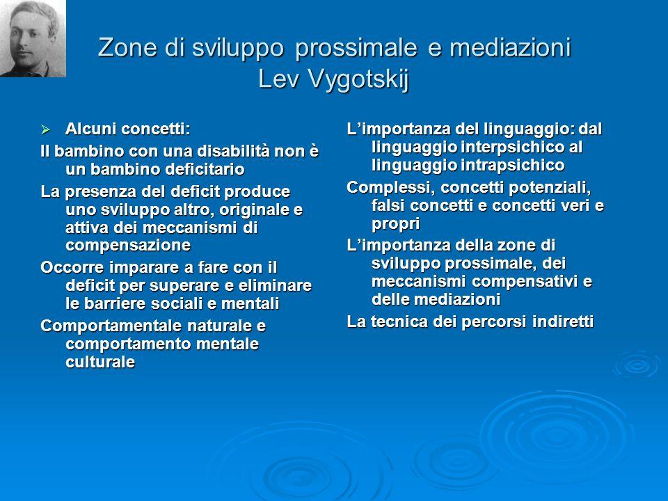 Zone di sviluppo prossimale e mediazioni Lev Vygotskij