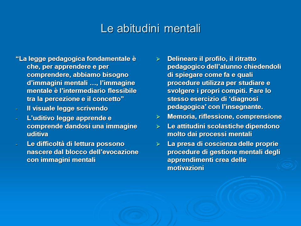 Le abitudini mentali