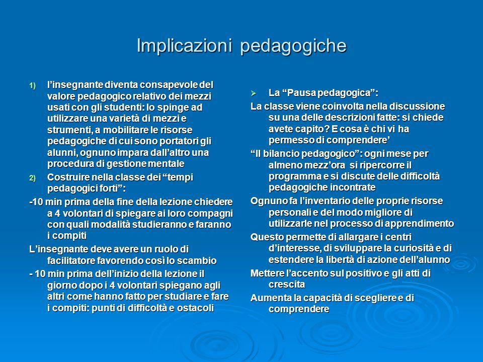 Implicazioni pedagogiche