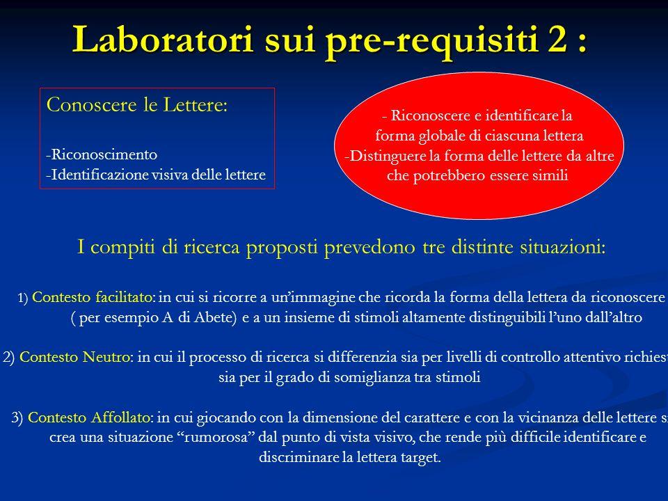 Laboratori sui pre-requisiti 2 :