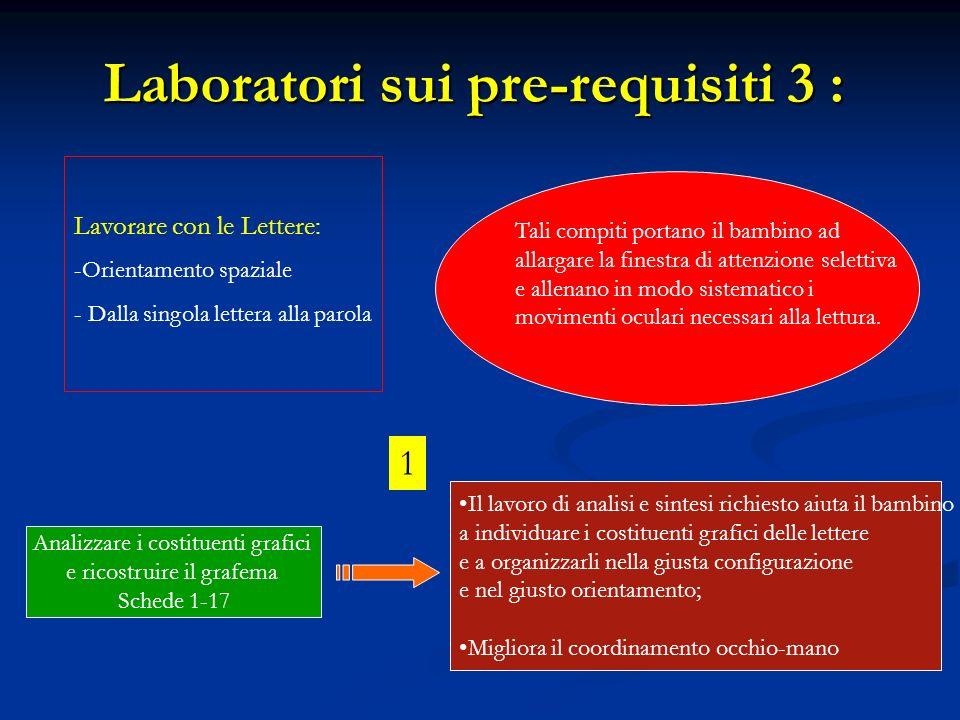 Laboratori sui pre-requisiti 3 :