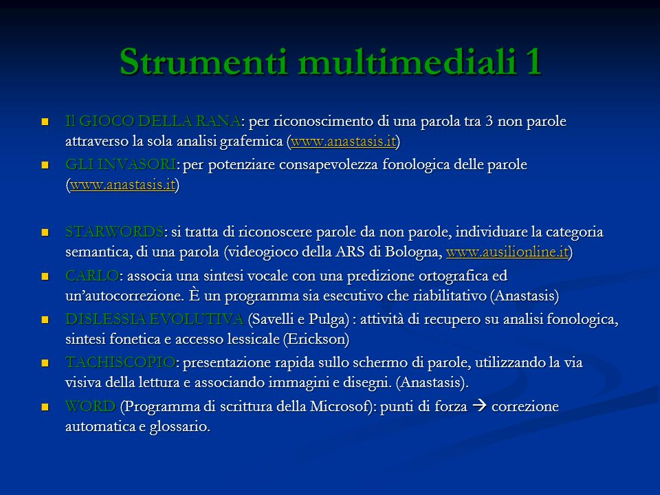 Strumenti multimediali 1