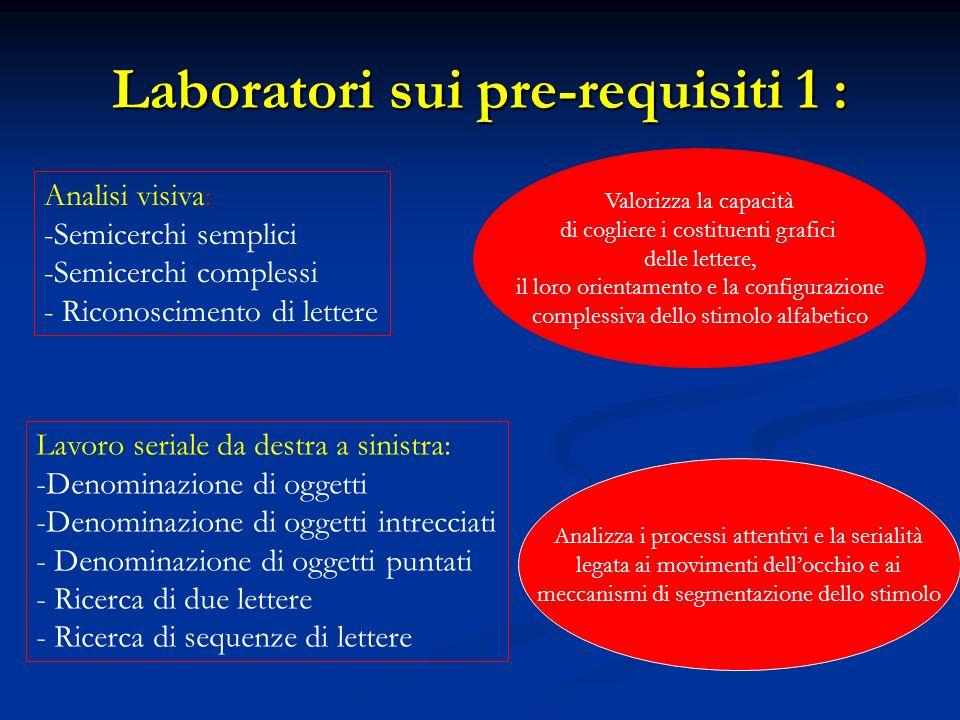 Laboratori sui pre-requisiti 1 :