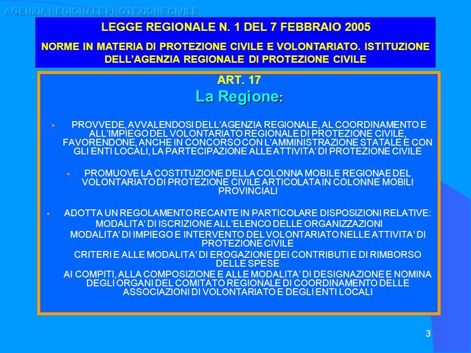 AGENZIA REGIONALE PROTEZIONE CIVILE