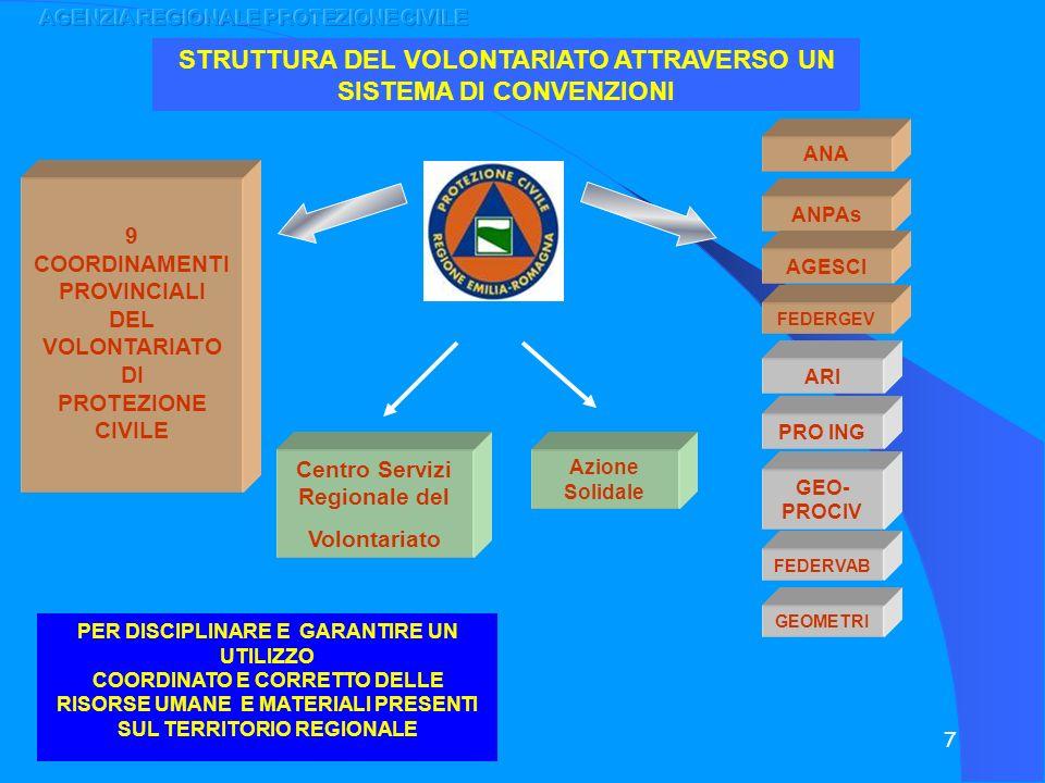 STRUTTURA DEL VOLONTARIATO ATTRAVERSO UN SISTEMA DI CONVENZIONI