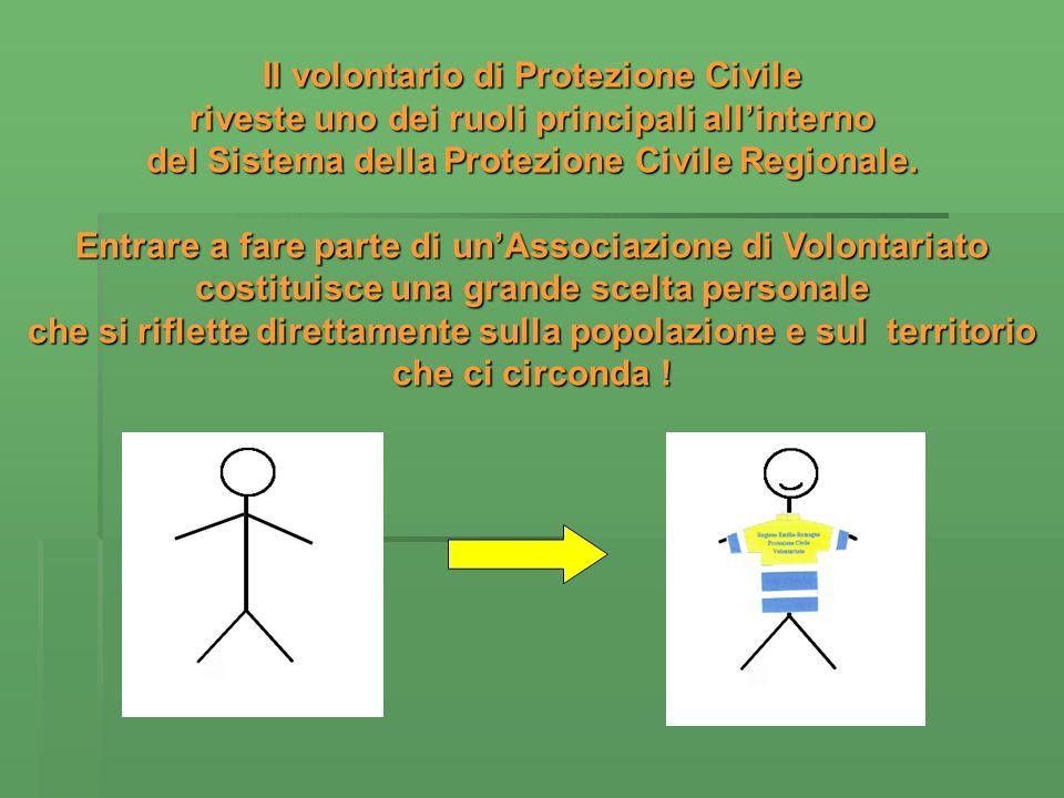 Il volontario di Protezione Civile