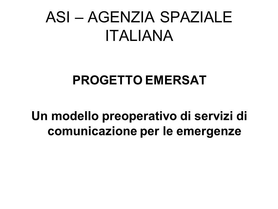 ASI – AGENZIA SPAZIALE ITALIANA