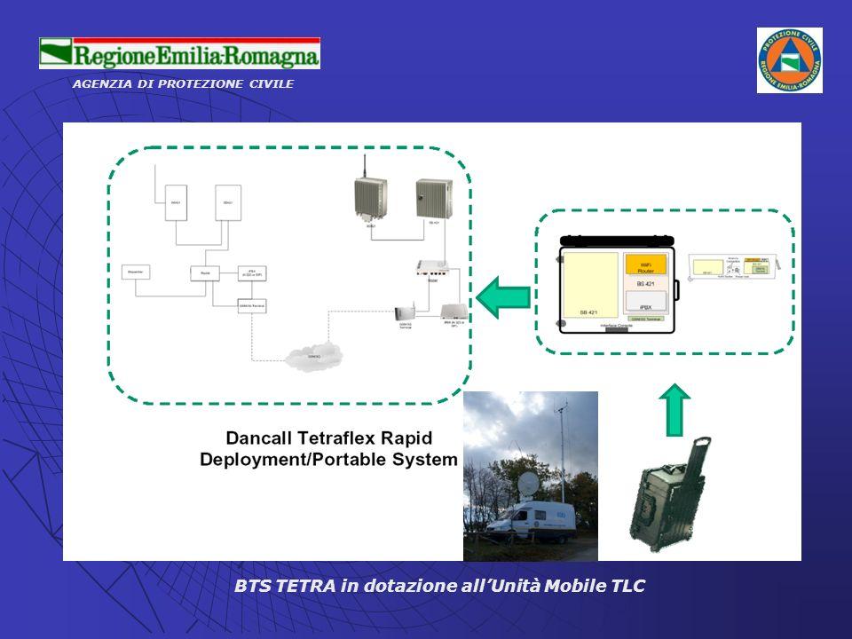 BTS TETRA in dotazione all'Unità Mobile TLC