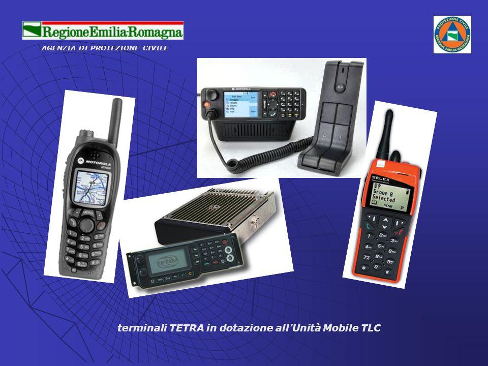 terminali TETRA in dotazione all'Unità Mobile TLC