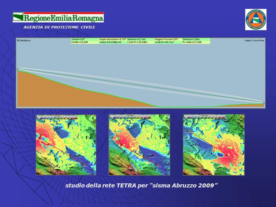 studio della rete TETRA per sisma Abruzzo 2009