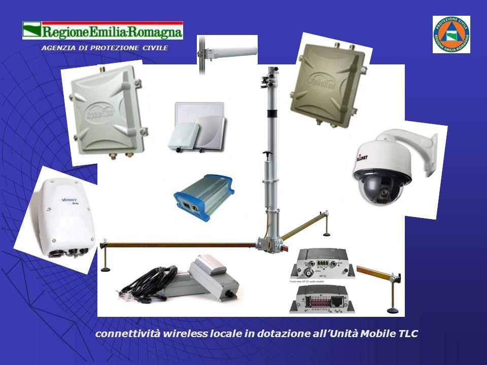 connettività wireless locale in dotazione all'Unità Mobile TLC