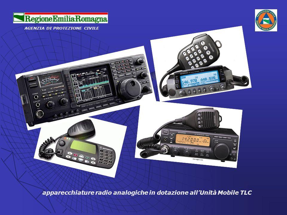 apparecchiature radio analogiche in dotazione all'Unità Mobile TLC
