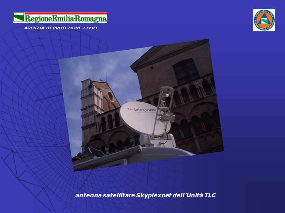 antenna satellitare Skyplexnet dell'Unità TLC