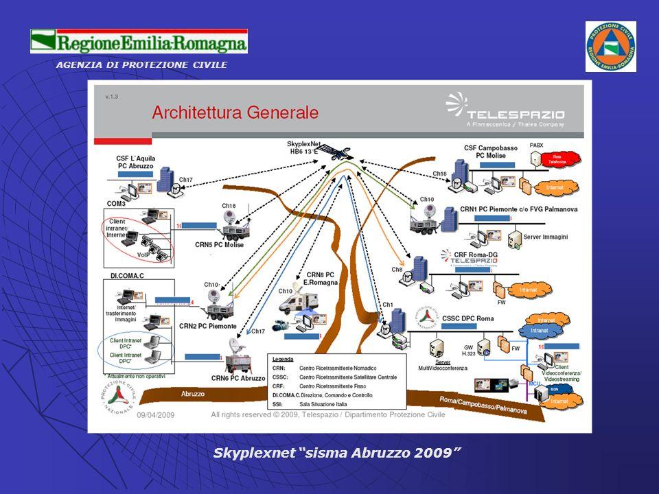 AGENZIA DI PROTEZIONE CIVILE Skyplexnet sisma Abruzzo 2009
