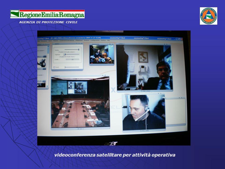 videoconferenza satellitare per attività operativa