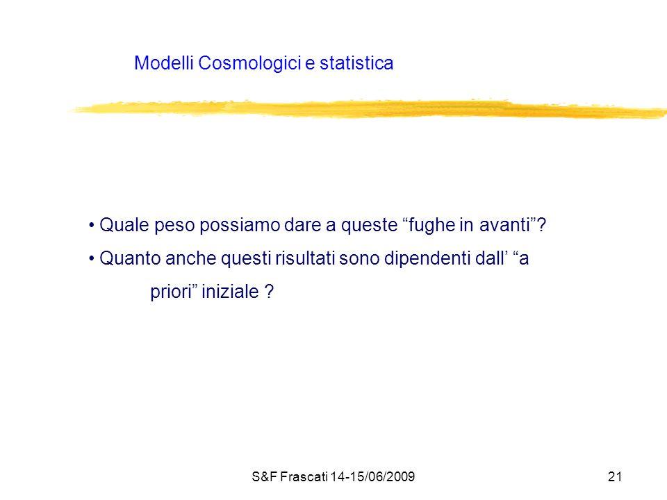Modelli Cosmologici e statistica