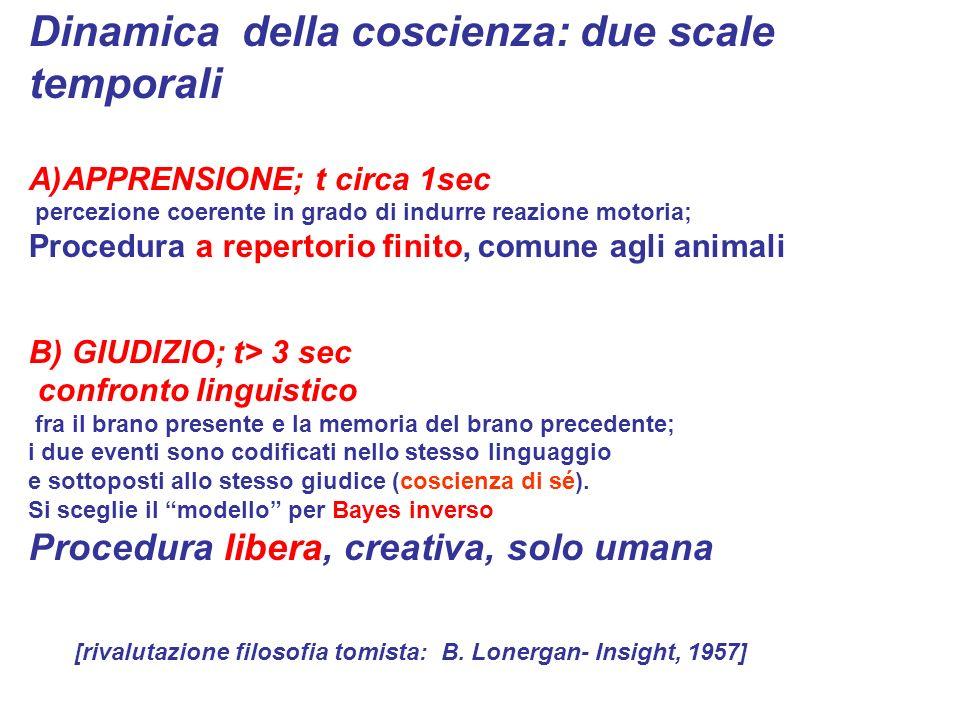 Dinamica della coscienza: due scale temporali