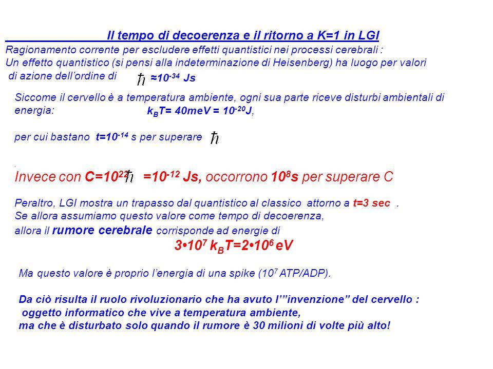 Invece con C=1022 =10-12 Js, occorrono 108s per superare C