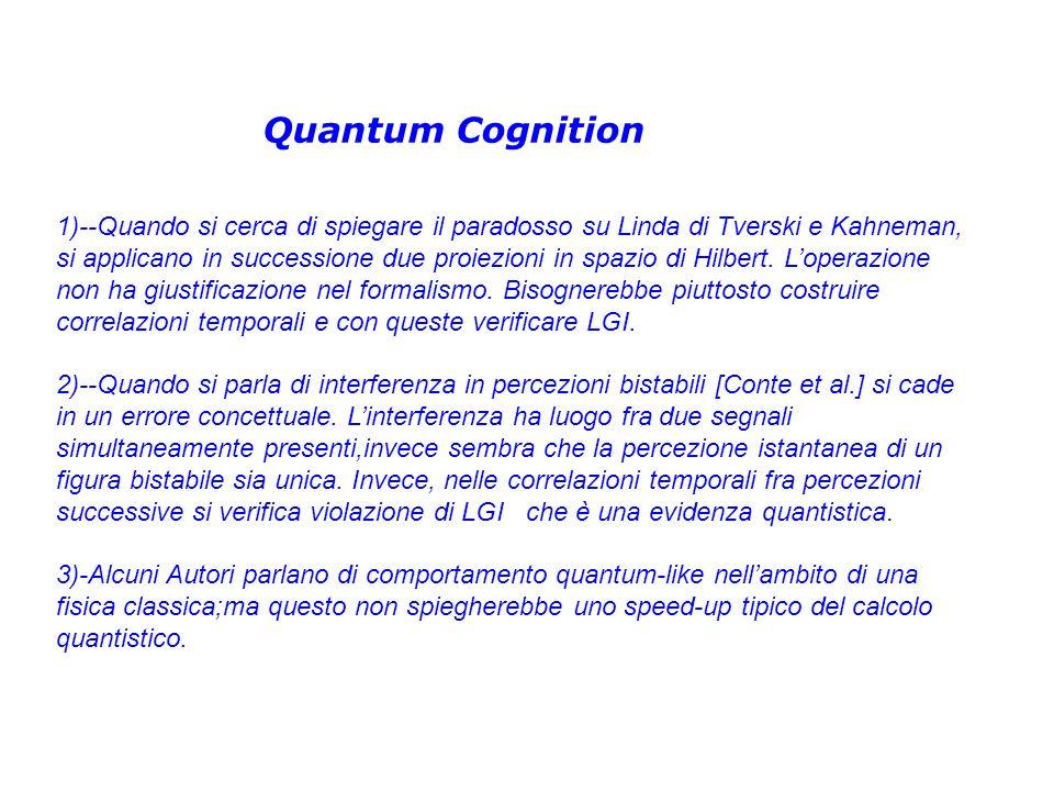 Quantum Cognition