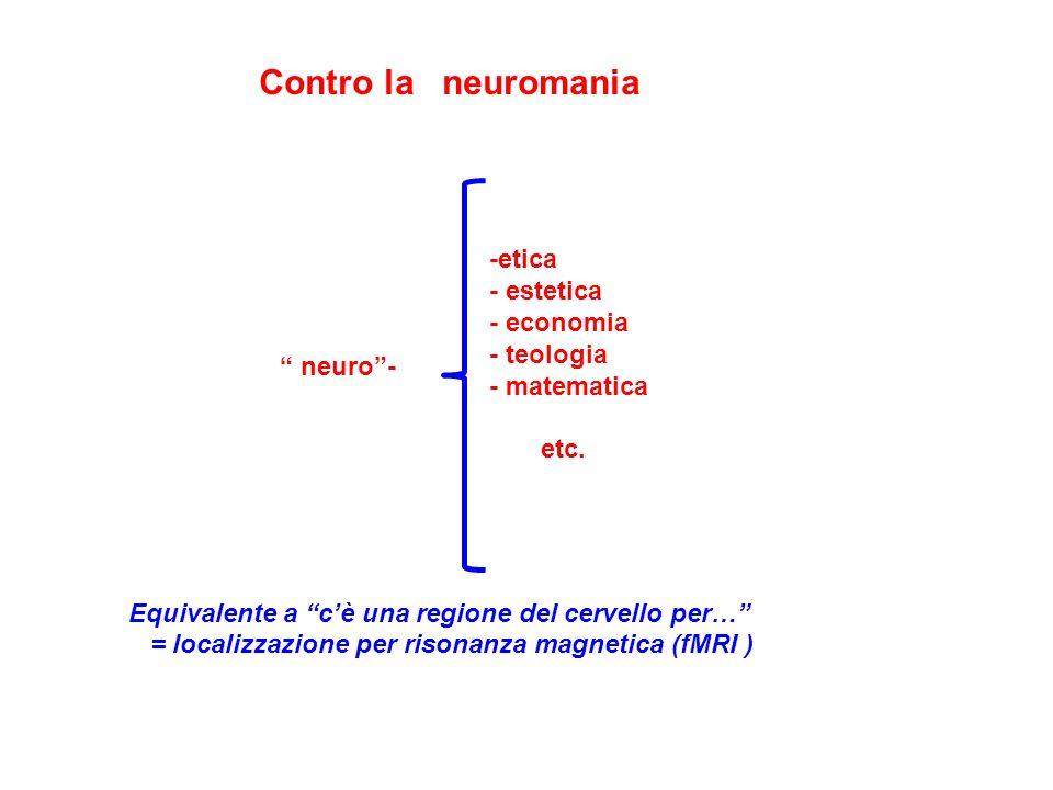 Contro la neuromania -etica - estetica - economia - teologia