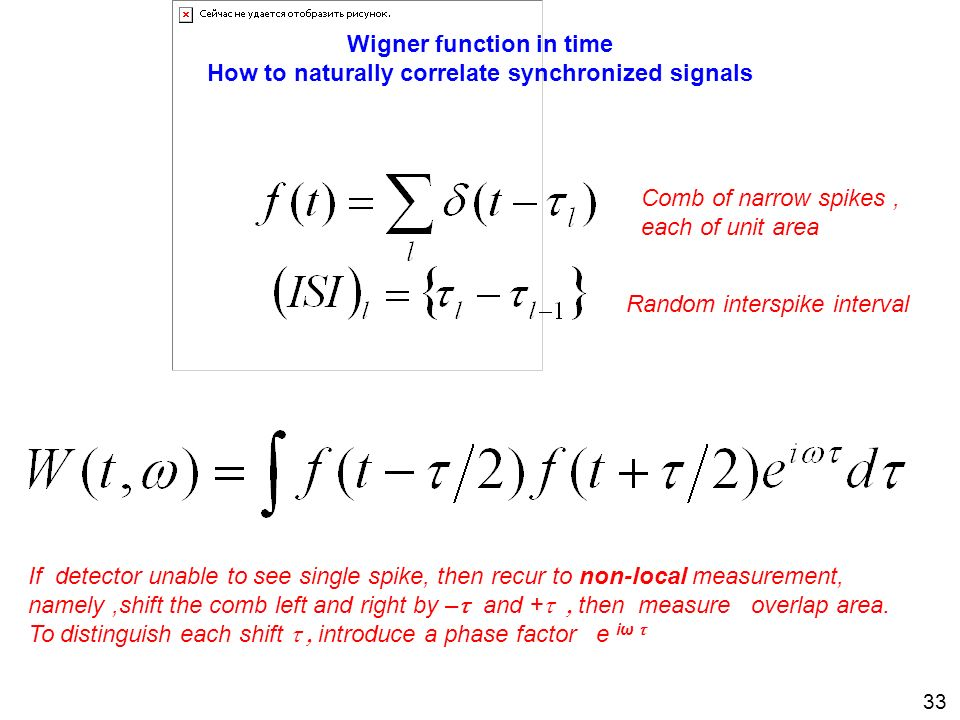 Wigner function in time