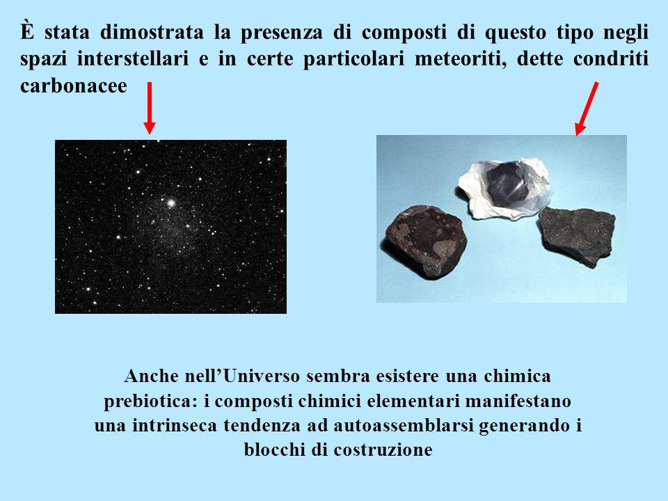 È stata dimostrata la presenza di composti di questo tipo negli spazi interstellari e in certe particolari meteoriti, dette condriti carbonacee