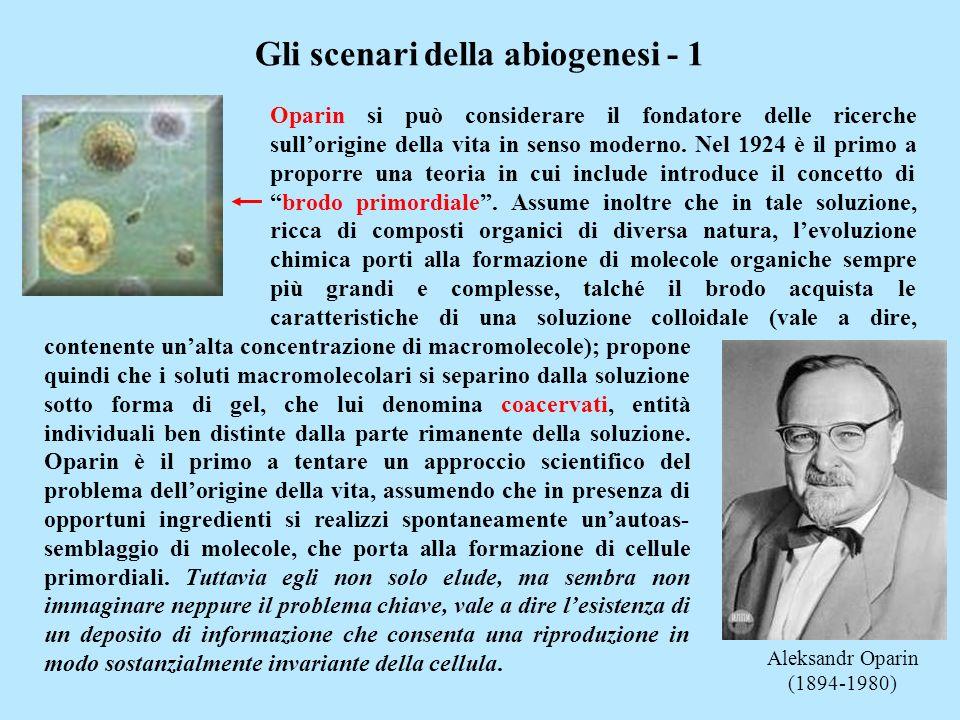 Gli scenari della abiogenesi - 1