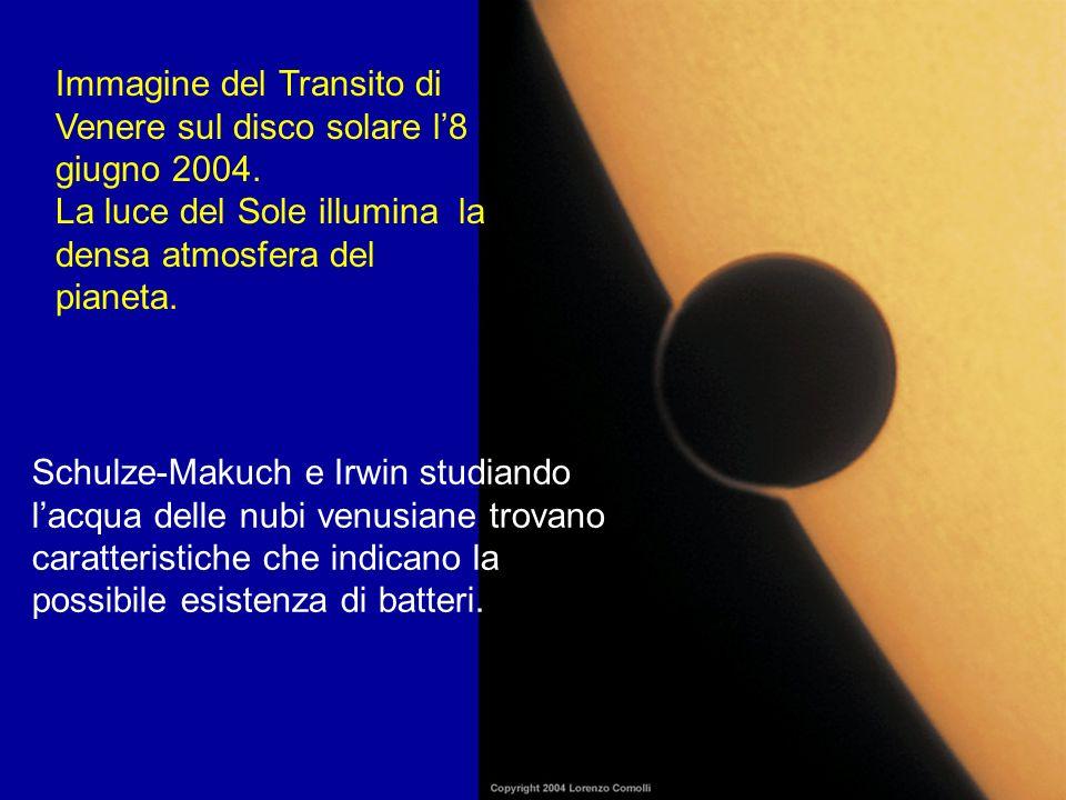 Immagine del Transito di Venere sul disco solare l'8 giugno 2004.