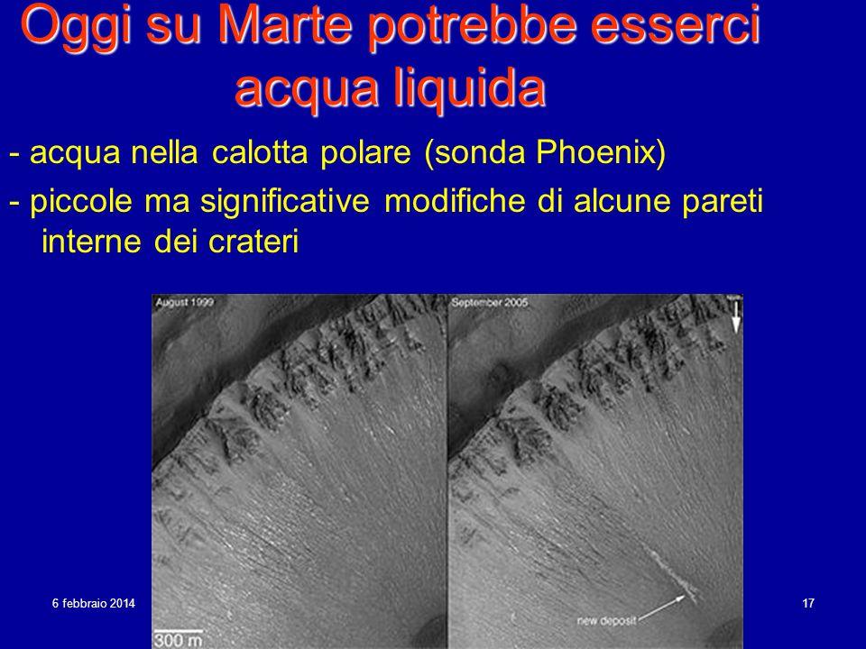 Oggi su Marte potrebbe esserci acqua liquida