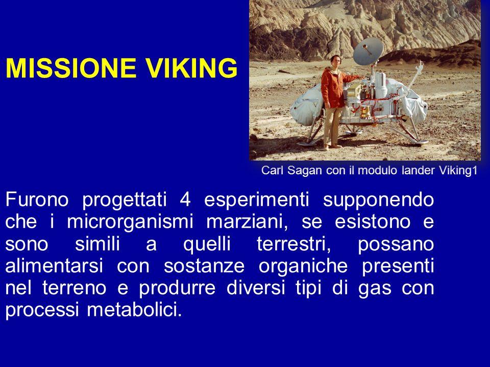 MISSIONE VIKING Carl Sagan con il modulo lander Viking1.