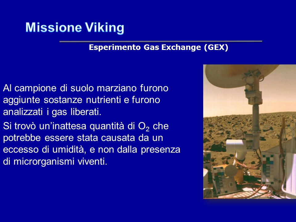 Esperimento Gas Exchange (GEX)