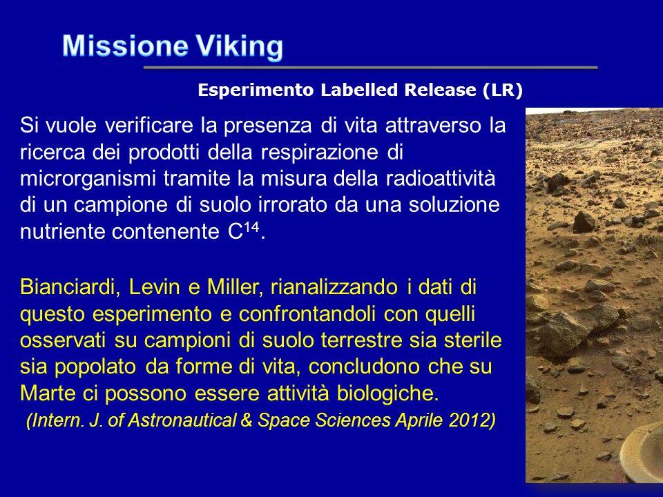 Esperimento Labelled Release (LR)