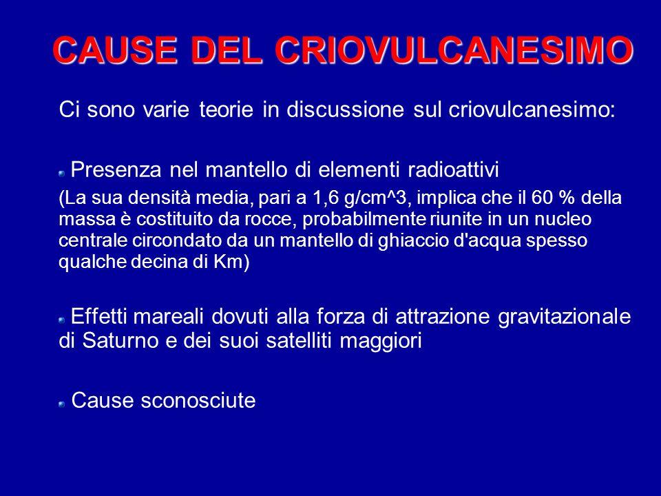 CAUSE DEL CRIOVULCANESIMO