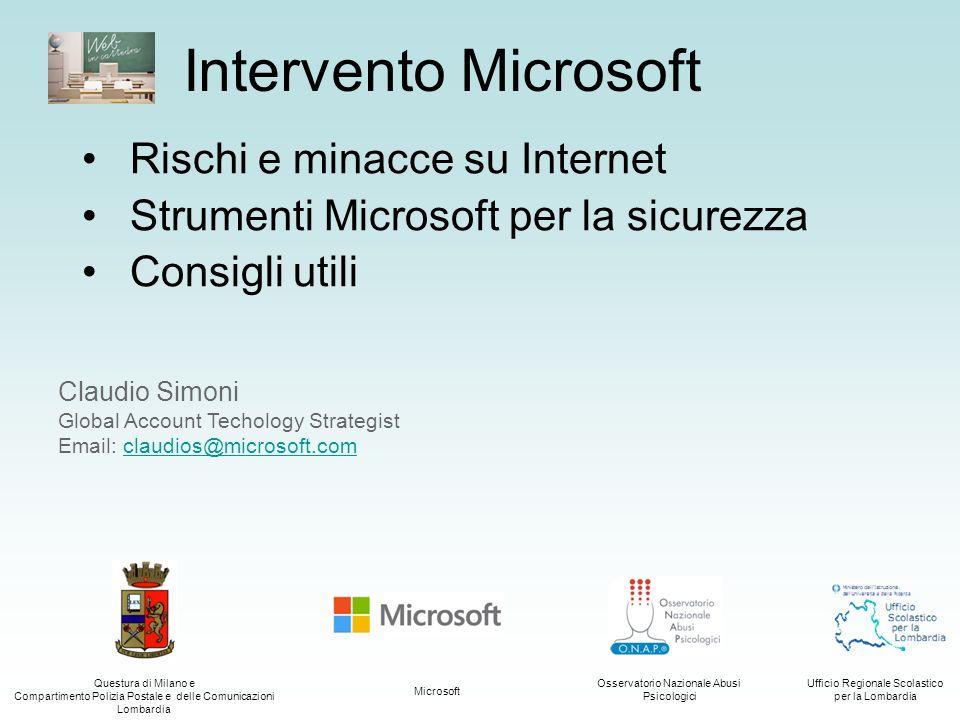 Intervento Microsoft Rischi e minacce su Internet