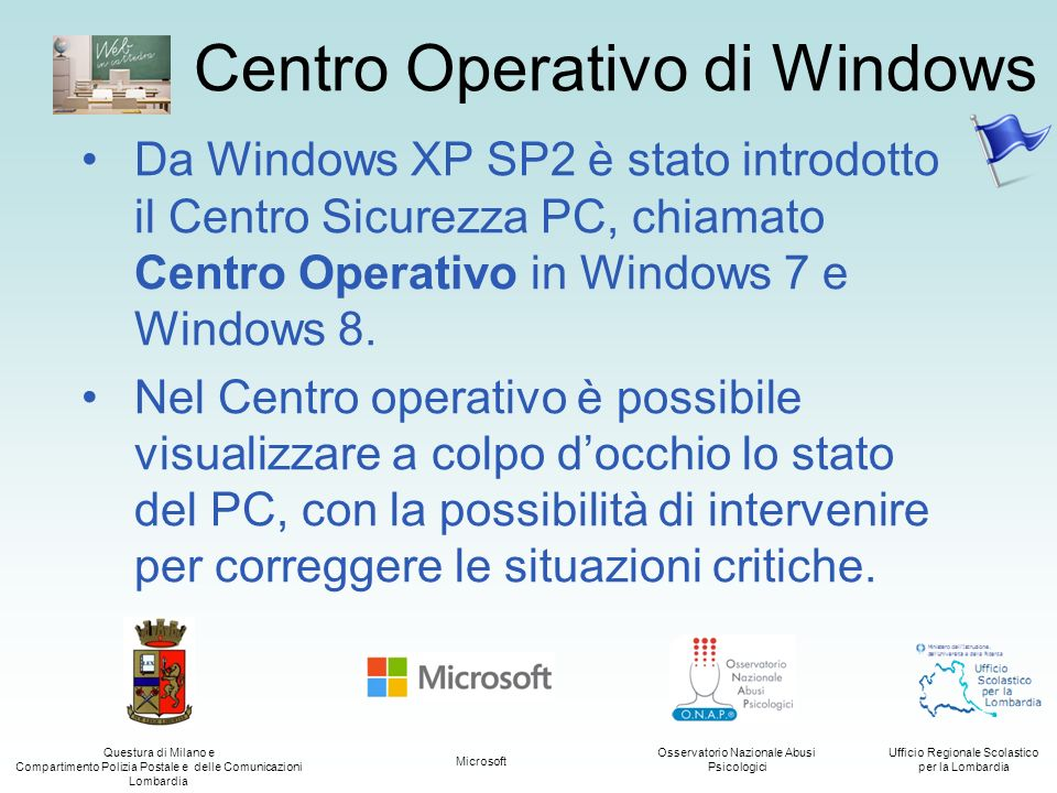 Centro Operativo di Windows