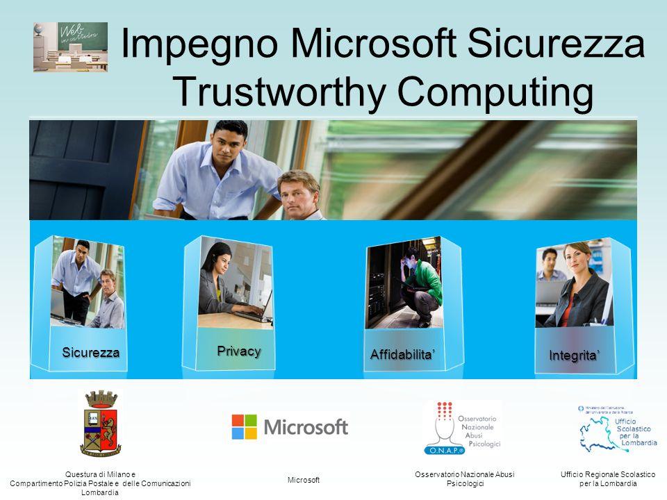 Impegno Microsoft Sicurezza Trustworthy Computing